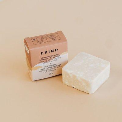 BKIND Shampoing en barre Orange et eucalyptus - Cheveux normaux ou à tendance grasse