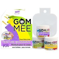 GOM·MEE Boîte cadeau de peinture moussante édition Pâques - Vert, lilas et jaune scintillants