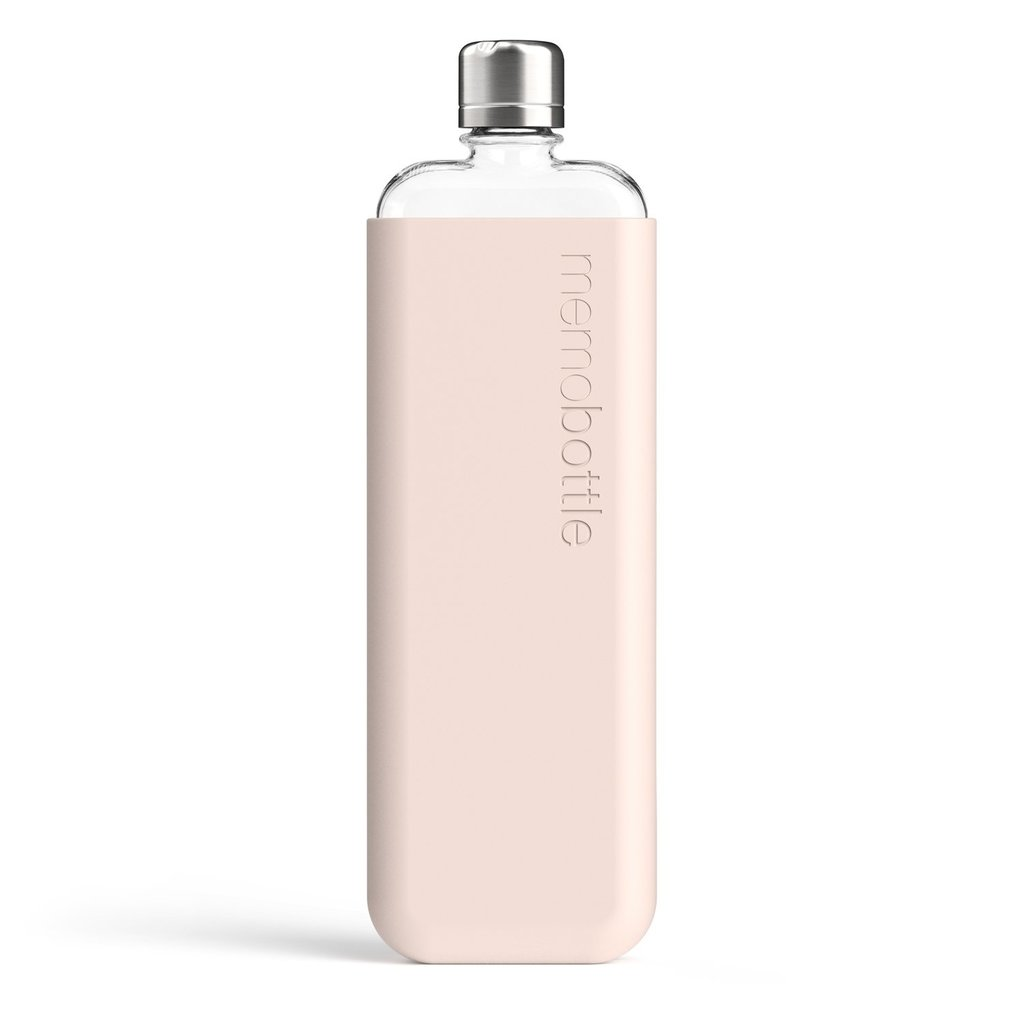 Memobottle Étui en silicone SLIM - Rose pâle