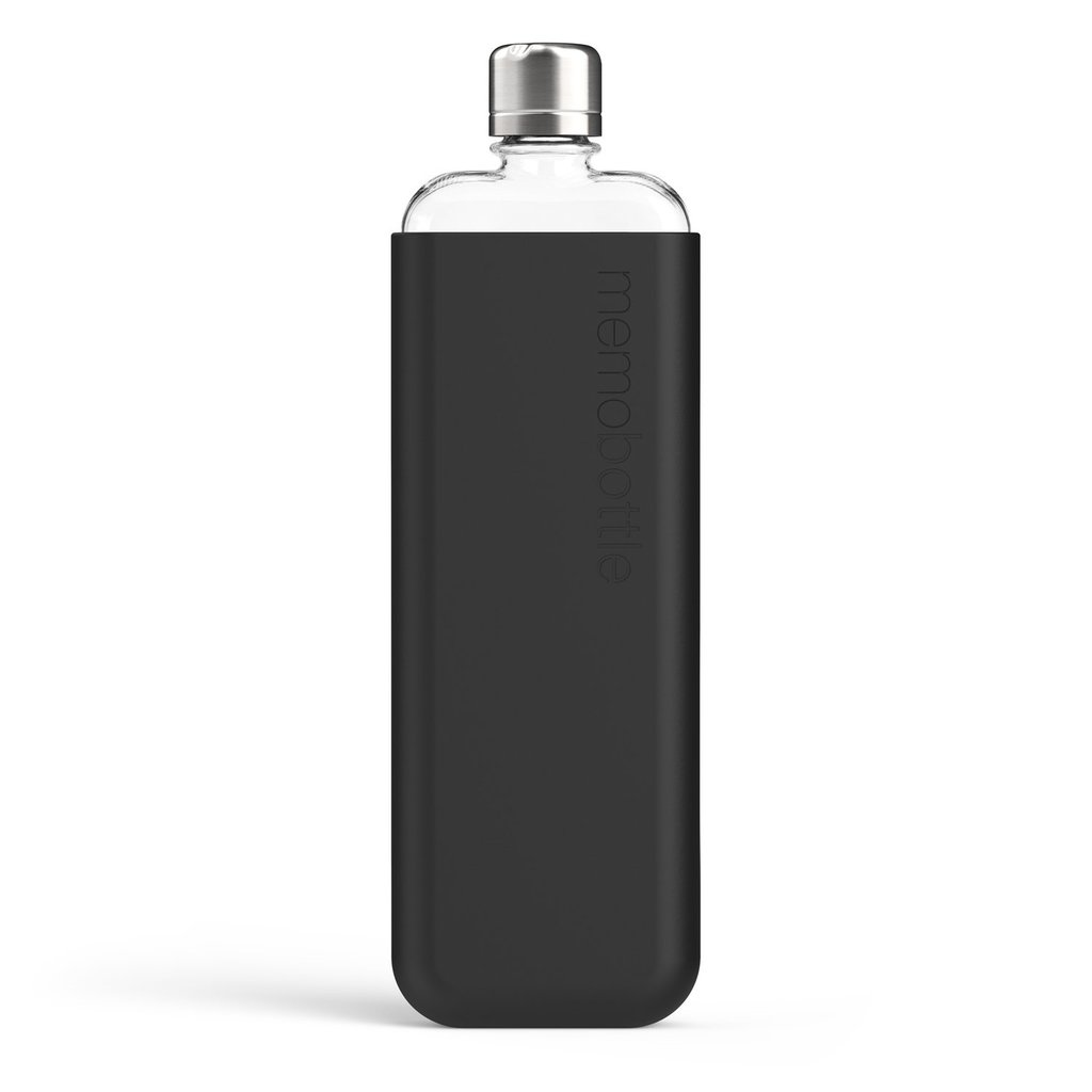 Memobottle Étui en silicone SLIM - Noir