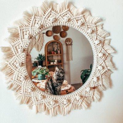 Hibbie Creations Miroir MIRACA - Crème