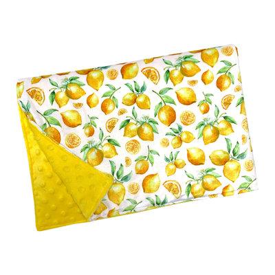 OOPS Couverture en minky - Citron