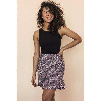 Dailystory clothing Jupe Margot - Fleuri rose