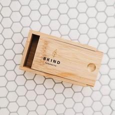 BKIND Boîte de transport en bambou pour shampoing et revitalisant en barre