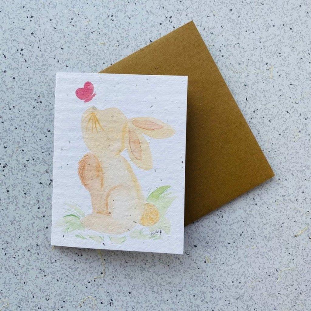 Kit de Survie Carte ensemencé - Lapin mignon