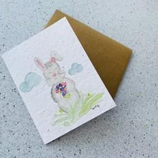 Kit de Survie Carte ensemencé - Lapin et fleurs