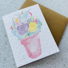 Kit de Survie Carte ensemencé - Bouquet de fleurs