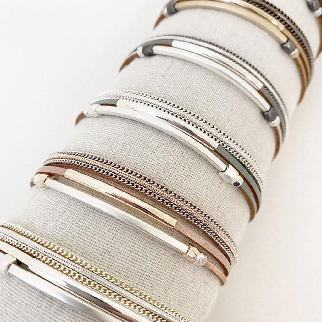 Caracol Bracelet simple multi rangs