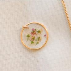 Lilimoon Atelier Collier de fleurs séchées en or plaqué
