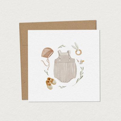 Mimosa Design Carte - Trousseau de naissance