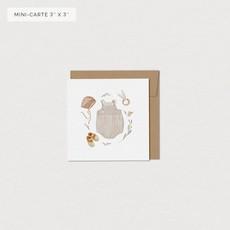 Mimosa Design Mini carte - Trousseau de naissance