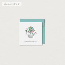 Mimosa Design Mini carte - Tu embellis ma vie (arrosoir)