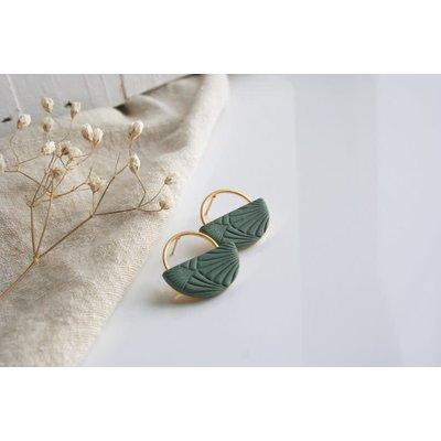 Boucle d'or Boucles d'oreilles - Cercle et demi-lune