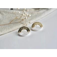 Boucle d'or Boucles d'oreilles arche or et demi-lune