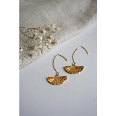 Boucle d'or Boucles d'oreilles - Éventail or