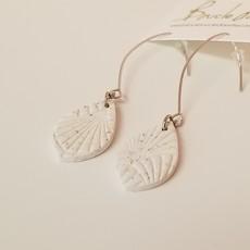 Boucle d'or Boucles d'oreilles - Crochet et goutte en argile polymère