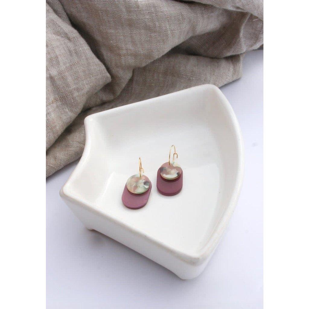 Boucle d'or Boucles d'oreilles en acétate - Violet