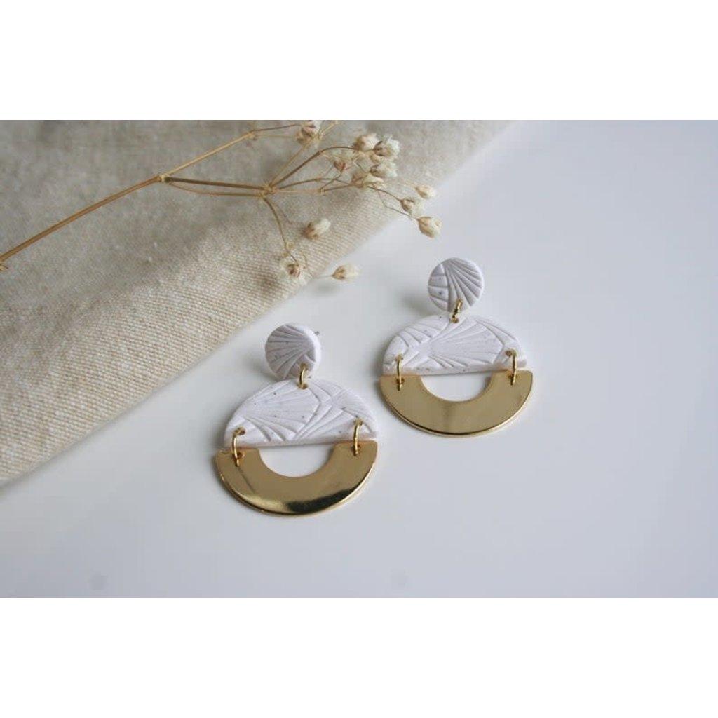Boucle d'or Boucles d'oreilles - Arche et demi-lune et cerle