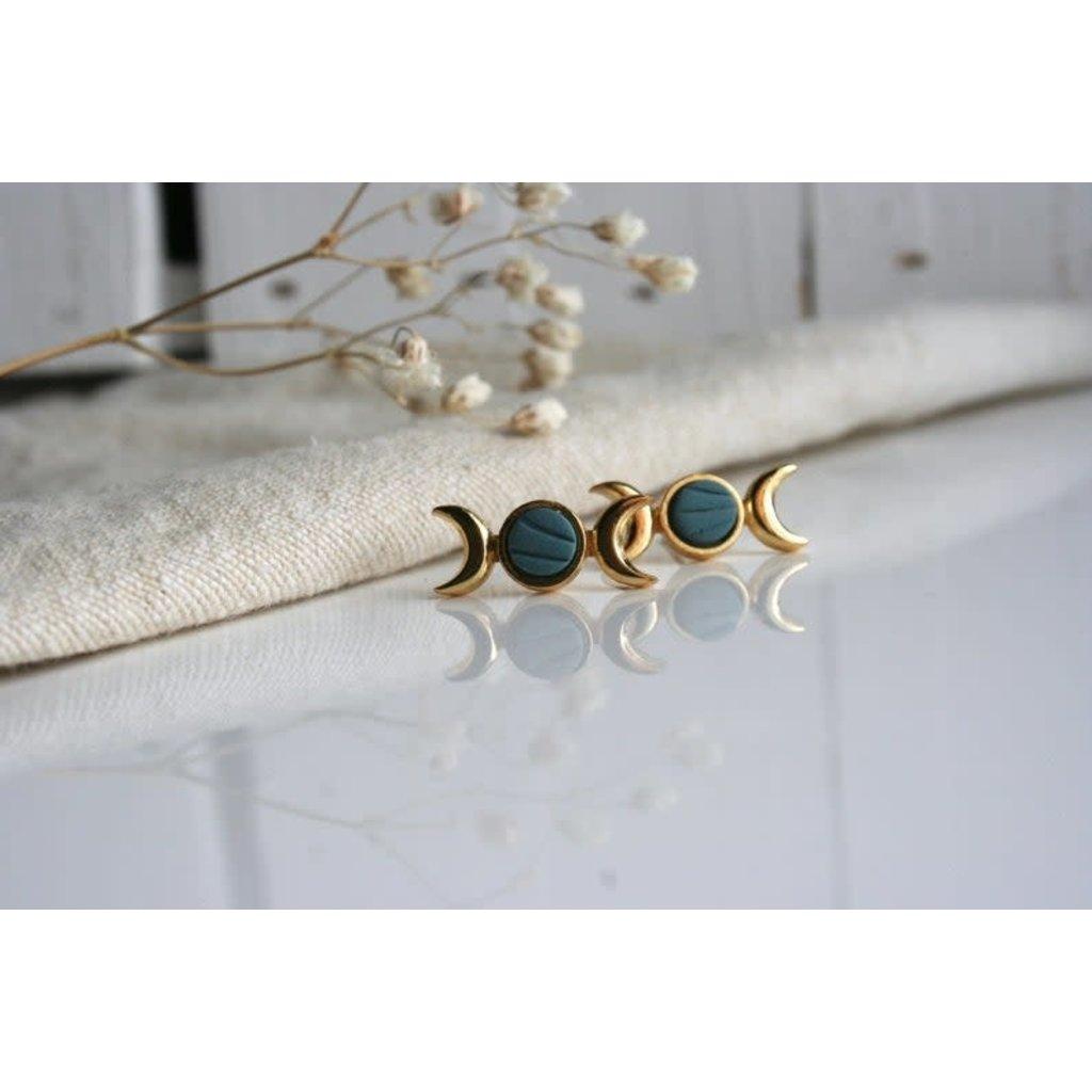 Boucle d'or Boucles d'oreilles - Croissant de lune
