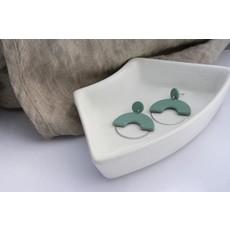 Boucle d'or Boucles d'oreilles - Pendentif en forme d'arche et clou rond