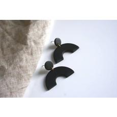 Boucle d'or Boucles d'oreilles - Arche en argile polymère