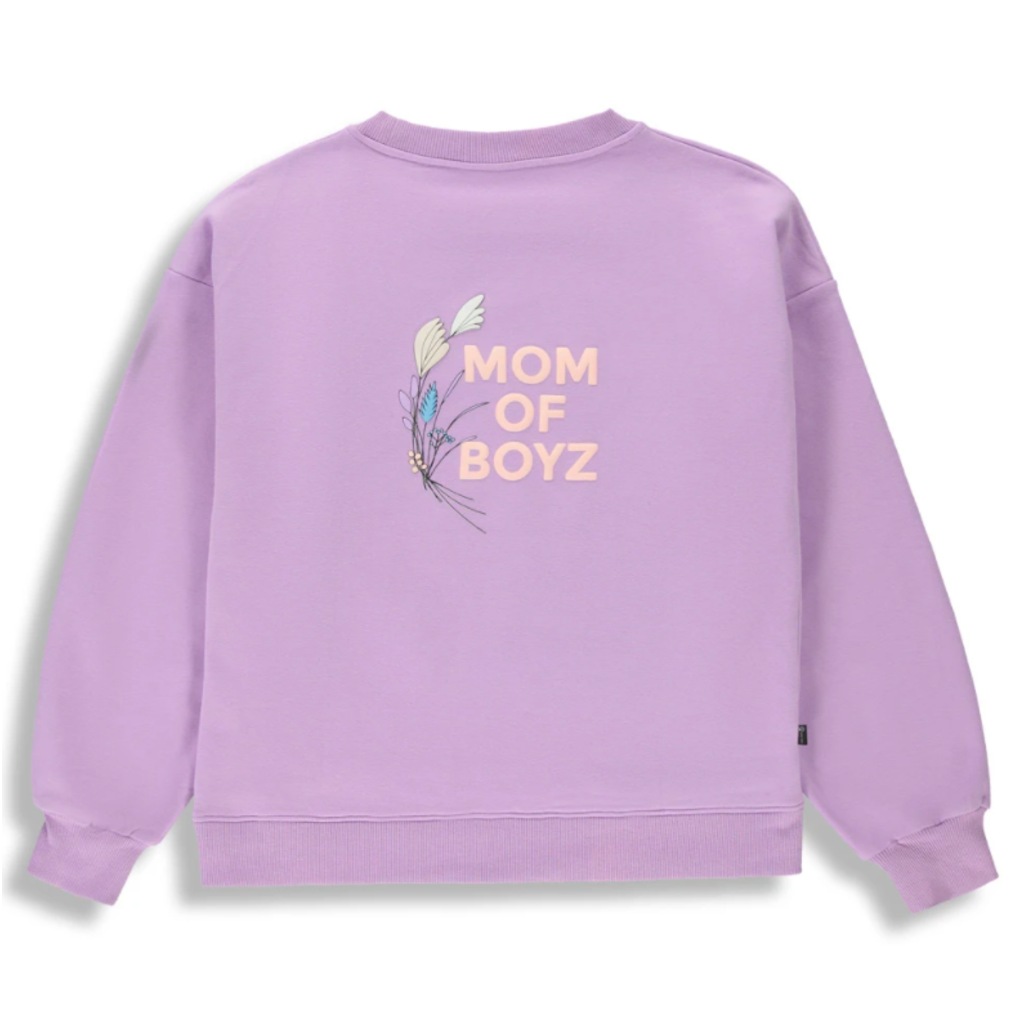 Birdz Sweat Mom of boyz - Lavande