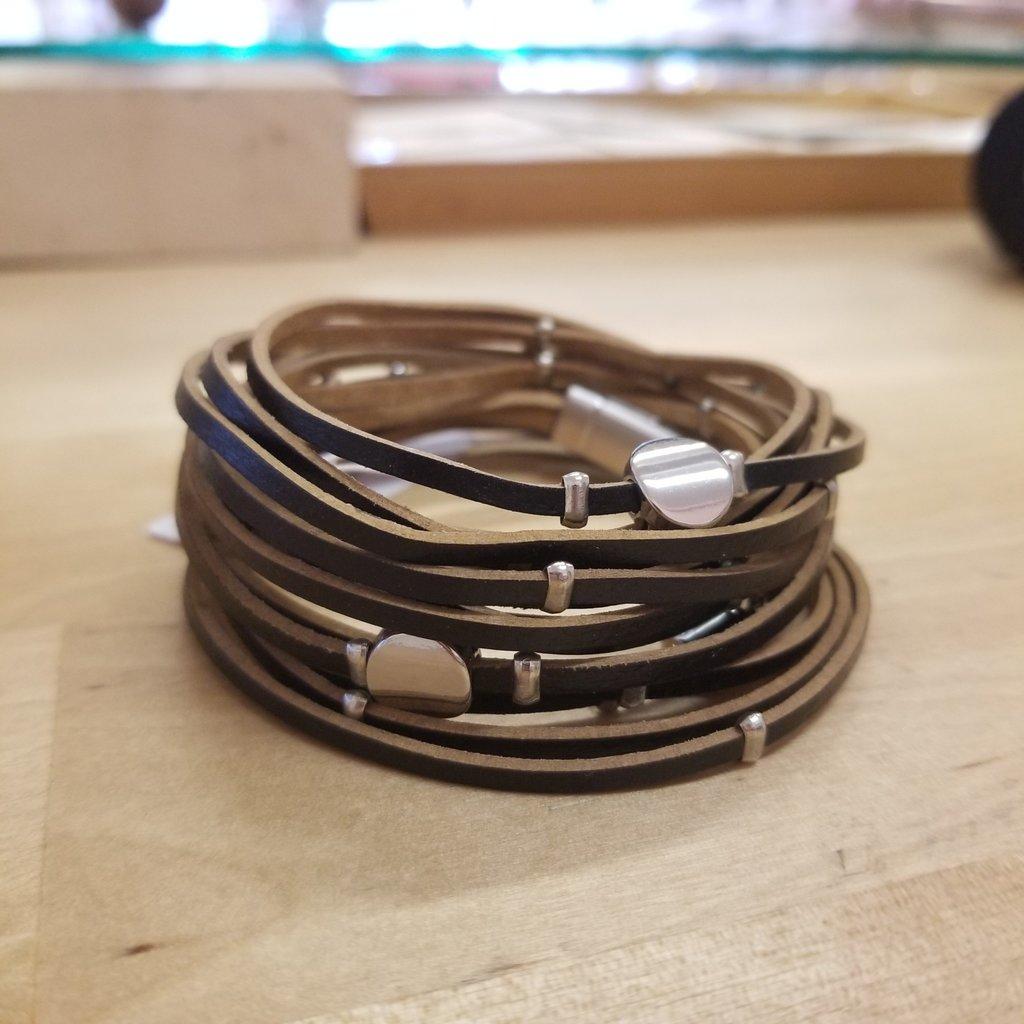 Caracol Bracelet en cuir