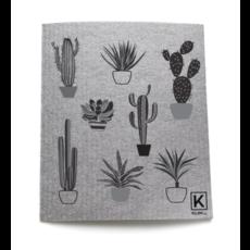 KLIIN Petit essuie-tout réutilisable - Cactus gris