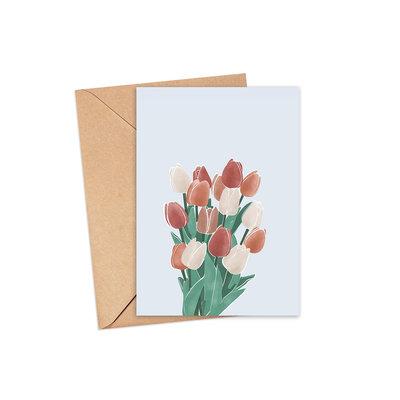 Les barbos Carte de souhait - Tulipes