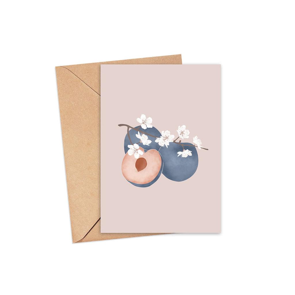 Les barbos Carte de souhait - Prunes