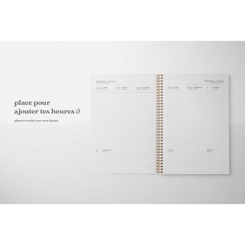 Naomie Design Agenda / Planificateur 2021-2022 - Femme