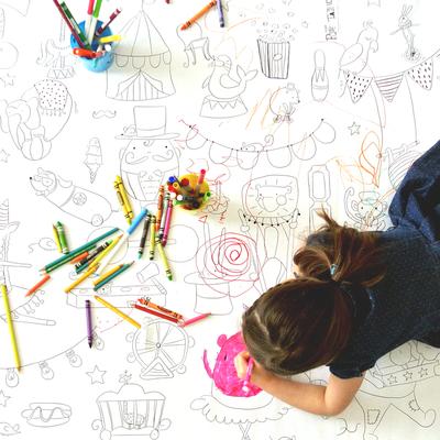 Atelier Rue Tabaga Affiche géante à colorier - Cirque