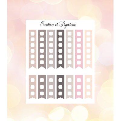 Création et Papeterie Autocollants - Case à cocher vertical (pastel)