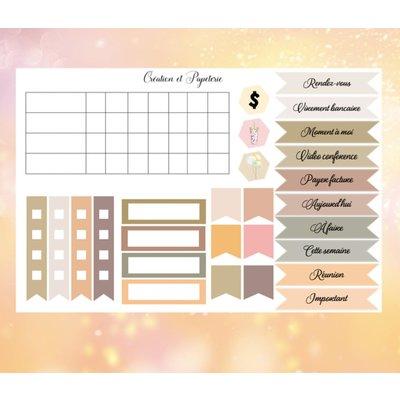 Création et Papeterie Autocollants - Organisation Boho