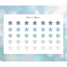 Création et Papeterie Autocollants - Étoiles bleus