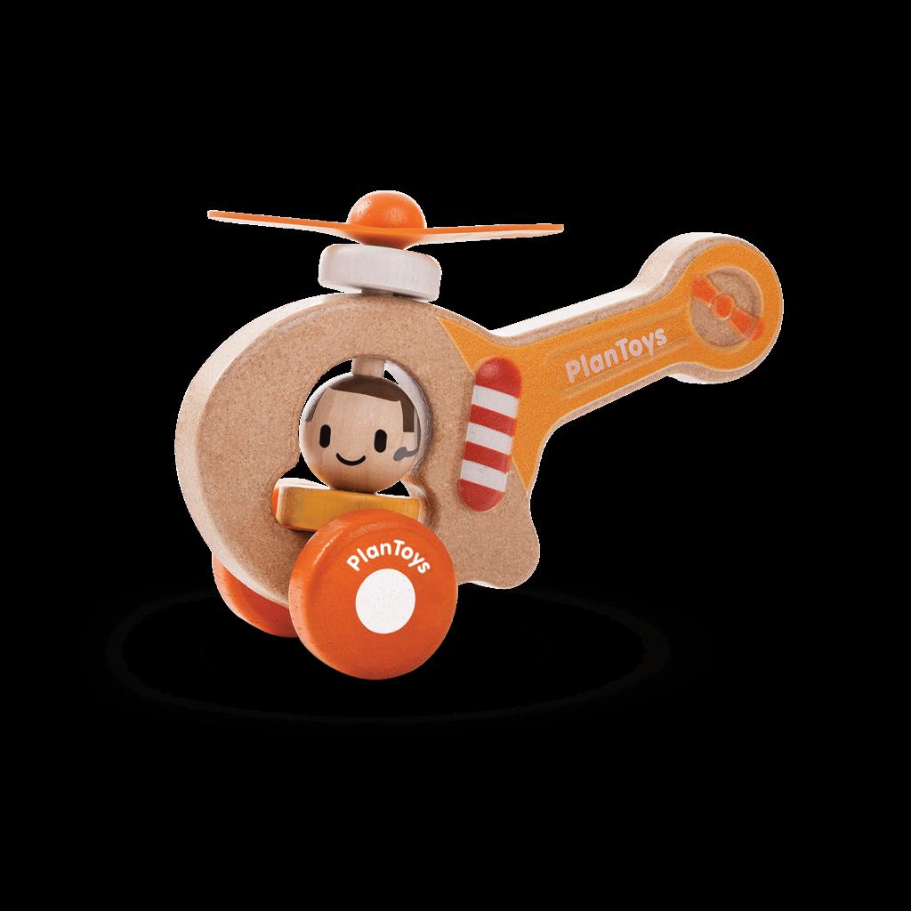 Plan Toys Jouet en bois écologiques - Hélicoptère