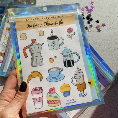 Bright Labels Autocollants - L'heure du thé
