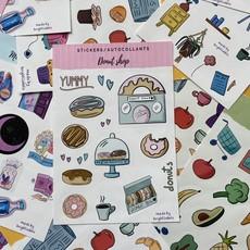 Bright Labels Autocollants - Donut Shop