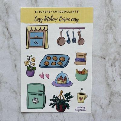 Bright Labels Autocollants - Cuisine cozy