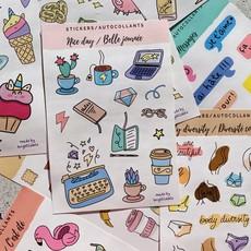 Bright Labels Autocollants - Belle journée