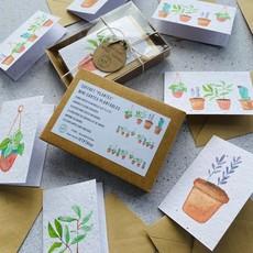 Kit de Survie Coffret de 8 mini cartes ensemencée - Plantes