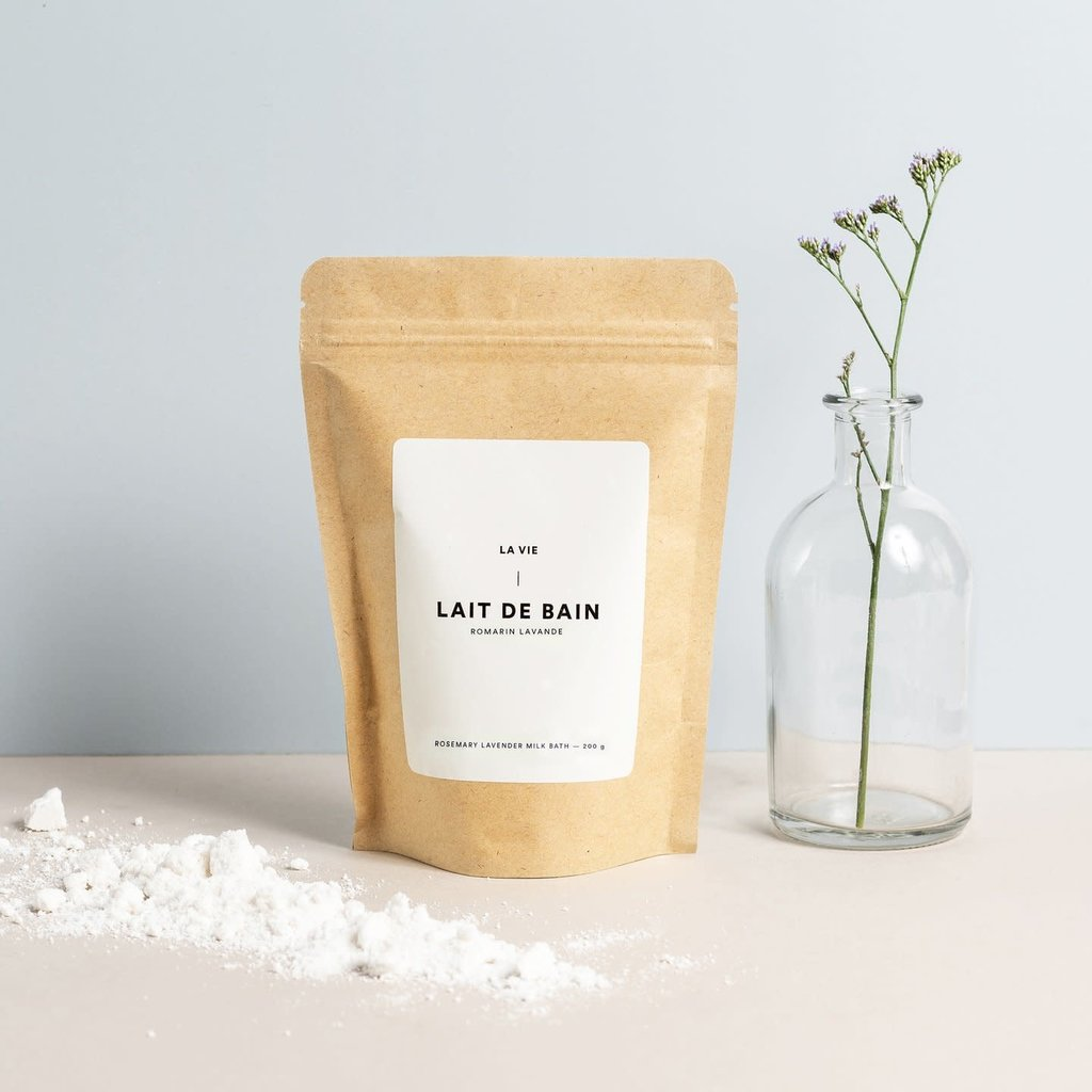 Atelier La Vie Apothicaire Lait de bain - Romarin et lavande