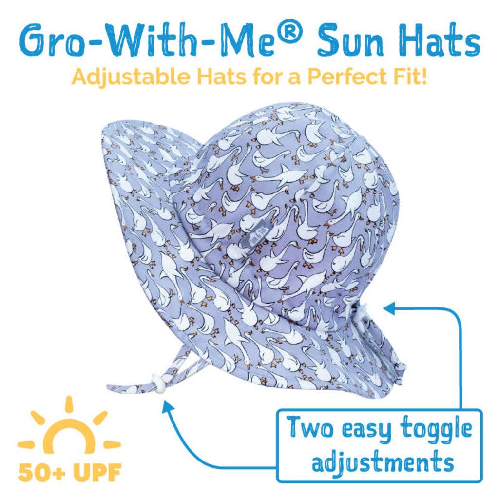Jan & Jul Chapeau de soleil souple en coton - Gris