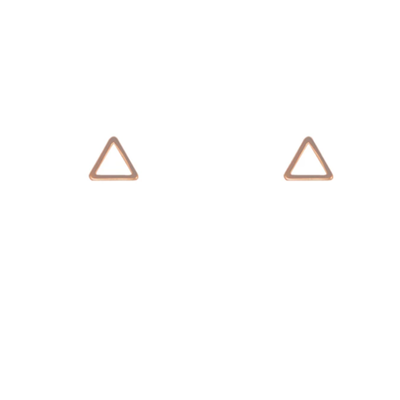 Lost & Faune Boucle d'oreille - Triangle or rose