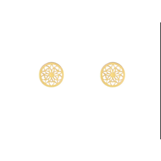 Lost & Faune Boucles d'oreilles - Mandala or