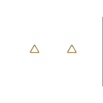 Lost & Faune Boucles d'oreilles - Triangle or