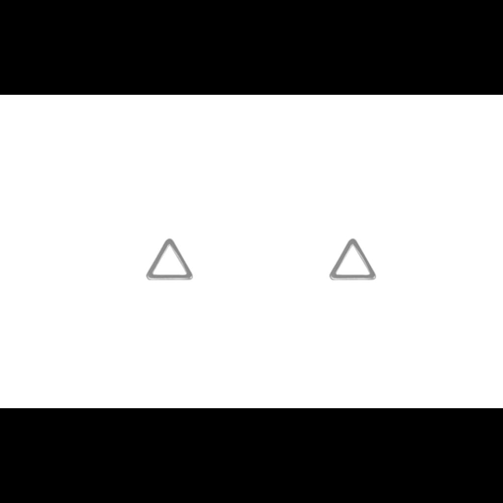 Lost & Faune Boucles d'oreilles - Triangle argent