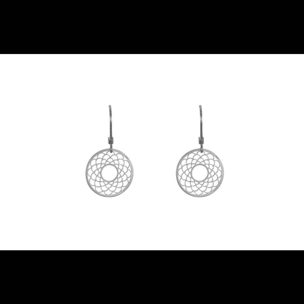 Lost & Faune Boucles d'oreilles - Capteurs de rêve argent