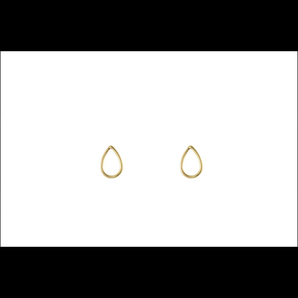 Lost & Faune Boucles d'oreilles à tiges - Gouttes or