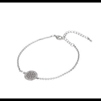 Lost & Faune Bracelet argent - Boussole gravée